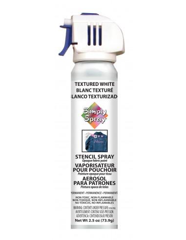 Simply Spray Stencil Paint Textured White