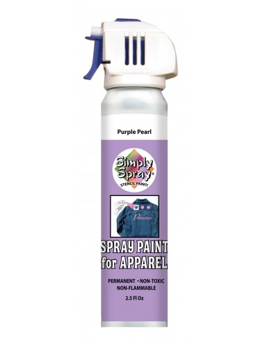 Simply Spray Stencil Paint Purple Pearl (Morado Perla)