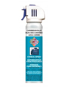 Simply Spray Stencil Paint Caribbean Blue (Azul Caribe)