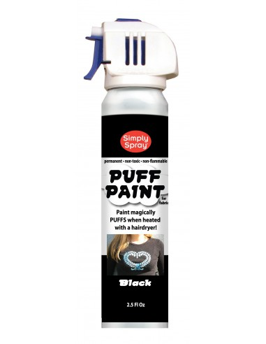 Puff Stencil Paint Negro Simply Spray