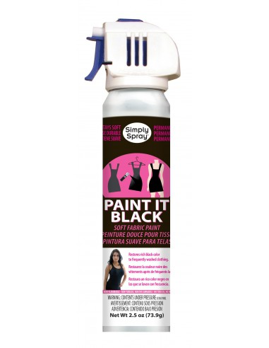 Spray para Tejidos Oscuros Paint It black Simply Spray 73,9 g