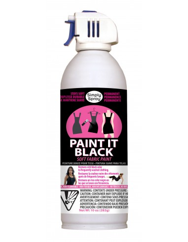 Spray para tejidos oscuros Paint It black formato grande 282 gr