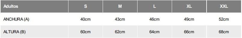 Guía tallas camiseta mujr