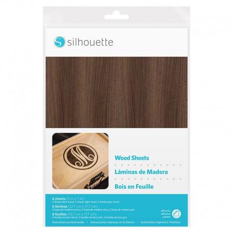 madera adhesiva silhouette